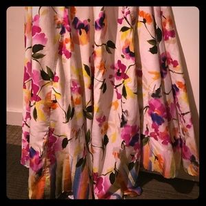 Long flowing floral skirt